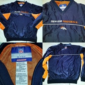 NFL Reebok Denver Broncos Football Pullover Windbr
